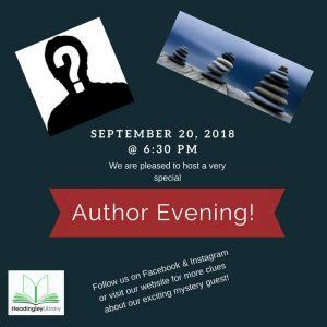author evening